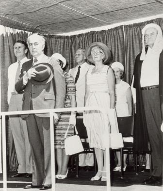 Opening Parliament, Darwin, 8 September 1978; Official Party on dais