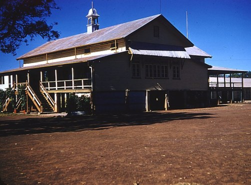 Darwin Primary School Office Block - the old Darwin Primary School in Cavenagh St, on  the site of the Post Office car park, 1957