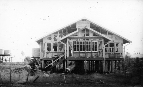 McKinnon's Residence shattered by a Daisy Cutter, 19 March 1942