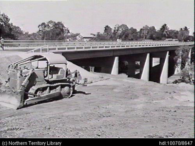 The Stuart Highway was upgraded with the Edwin Verburg Bridge at the township of Adelaide River.