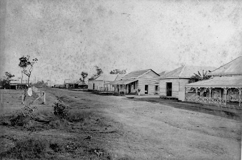 Mitchell Street, looking north west, Palmerston (now Darwin) 1879