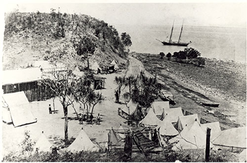 Surveyors' camp, Port Darwin, NTAS, NTRS 234, CP225 and CP226